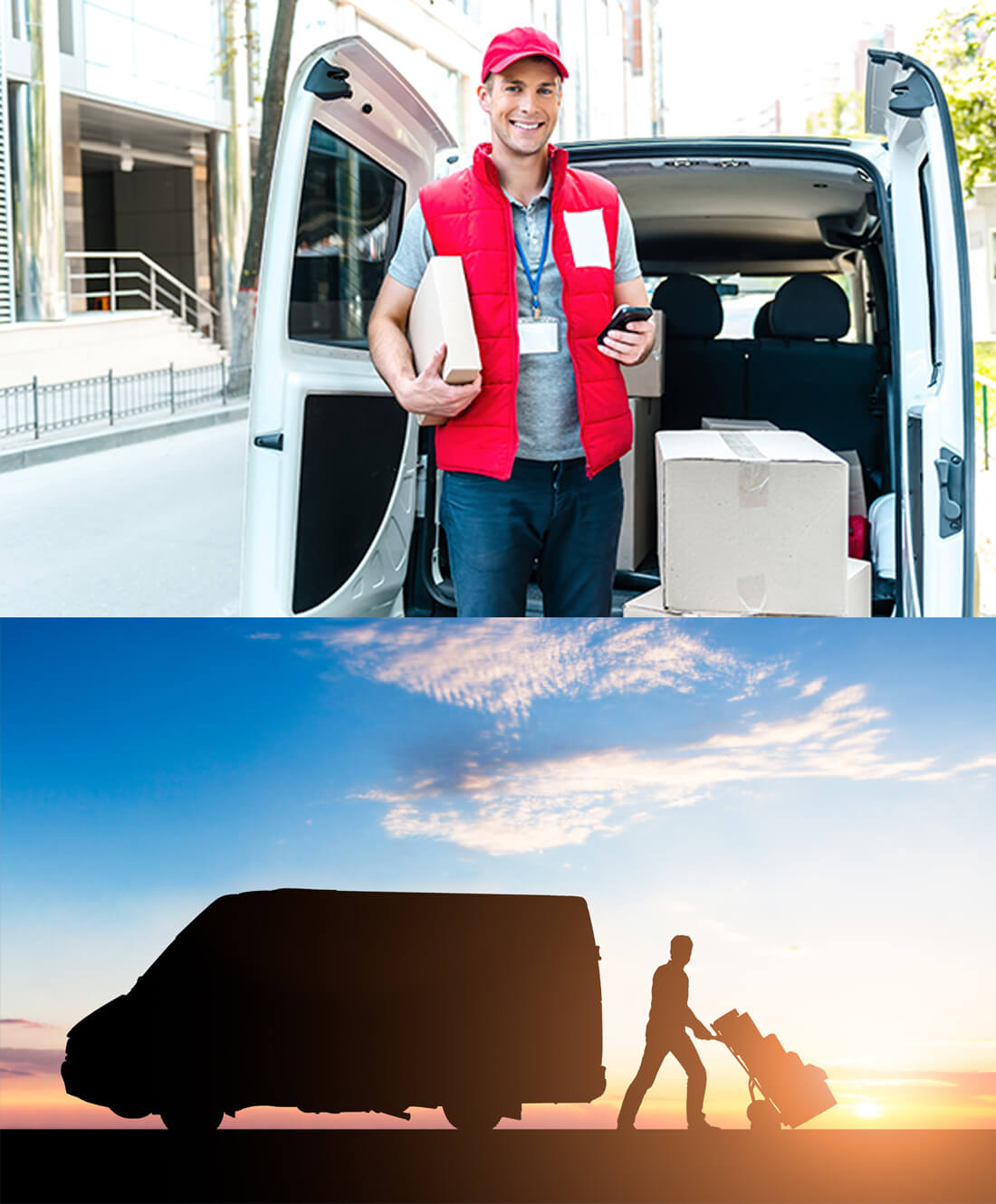 Courier Delivering Package By Van - Independent Freight
